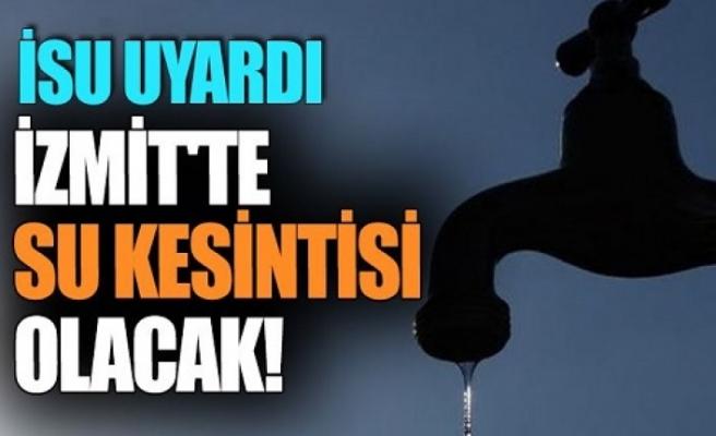 İzmit'te  su kesintisi