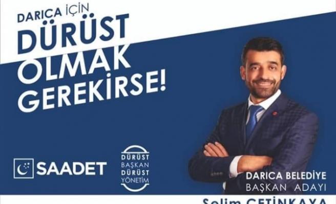 Saadet Darıca'da tek aday Selim Çetinkaya