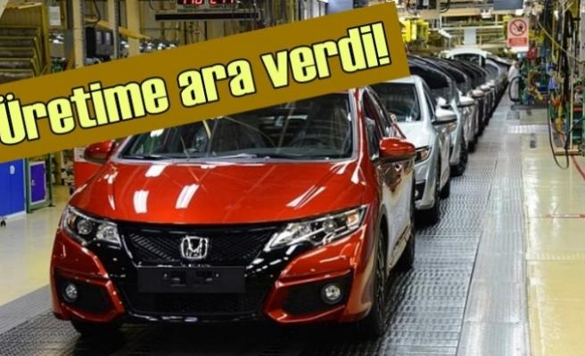 Honda Türkiye'deki üretime ara verdi