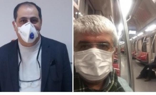 Koronavirüs korkusu iki eski dosta maske taktırdı.
