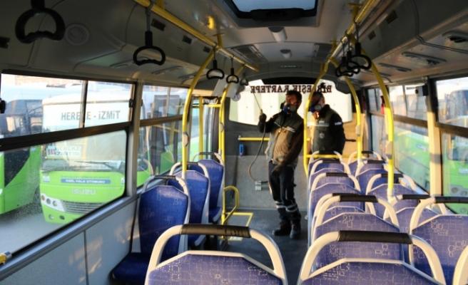 Toplu taşıma araçlarında virüs ve mikroplara izin yok