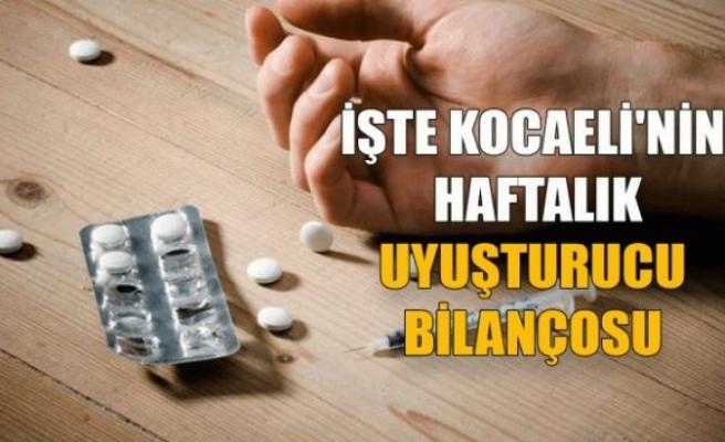 İşte Kocaeli'nin haftalık uyuşturucu bilançosu