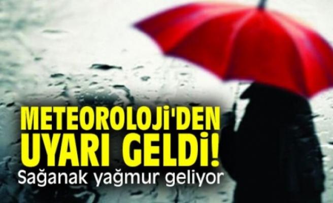 Dikkat: Sağanak yağmur var