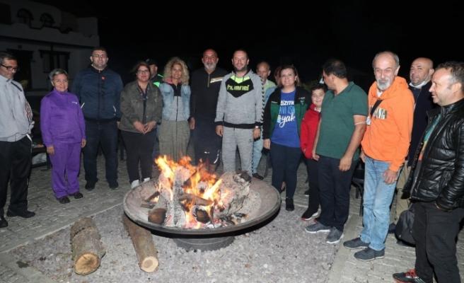 Başkan Hürriyet, Sarısu Gençlik Kampı'nda gazetecileri ağırladı