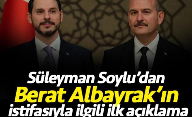 Süleyman Soylu'dan, Berat Albayrak açıklaması