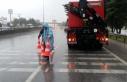 Büyükşehir ekipleri yağış boyunca teyakkuzda