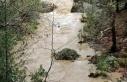 Çöken ahşap köprüden dereye düşerek suya kapılan...