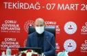 Süleyman Soylu, Tekirdağ'da güvenlik toplantısına...