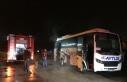 Sakarya'da personel servis aracında çıkan yangın...