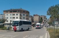 Kocaeli'de servis aracı işletmecileri İsrail zulmünü kınamak için konvoy oluşturdu