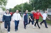 Körfezliler 'sağlık' için Hereke'de yürüdü