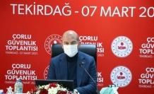 Süleyman Soylu, Tekirdağ'da güvenlik toplantısına katıldı