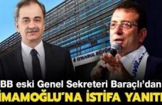 İmamoğlu çağrıda bulunmuştu… Hayri Baraçlı'dan istifa açıklaması