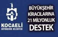 Kocaeli Büyükşehir Belediyesinden salgından etkilenen kiracılarına 21 milyon liralık destek