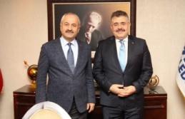 Başkan Büyükgöz İl Emniyet Müdürü Tipioğlu'nu ağırladı