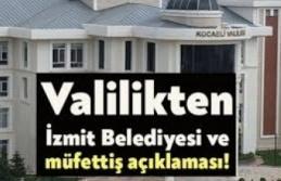 """Kocaeli Valiliğinden """"İzmit Belediyesine müfettiş görevlendirildi"""" haberlerine ilişkin açıklama:"""