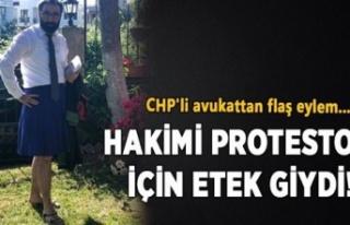 CHP'li Avukattan ETEK protestosu