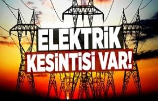 Dikkat! O mahallelerde elektrikler kesilecek