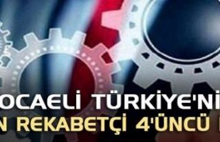 Kocaeli Türkiye'nin en rekabetçi 4'üncü...