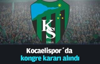Kocaelispor'da kongre tarihi belli oldu