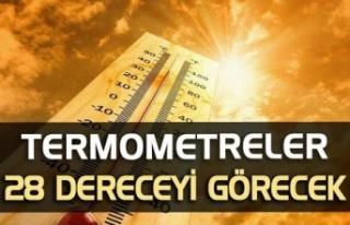 Termometreler 28 dereceyi görecek!