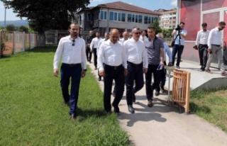 Başkan Büyükakın, Brunga tesislerinde inceleme...