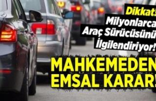Milyonlarca araç sürücüsünü ilgilendiren karar