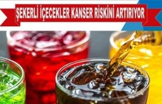 Şekerli içecekler kanser riskini artırıyor mu?