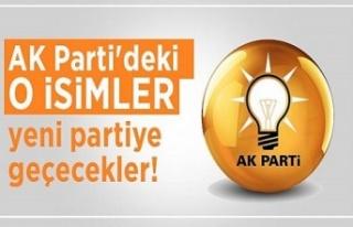 Yeni partiyi destekleyen AK Parti'li isimler belli...
