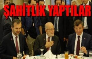 Ahmet Davutoğlu ve Temel Karamallaoğlu bir araya...