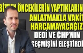 Erbakan: Bizim konuşmalarımız Hazreti Ömer, icraatlarımız...