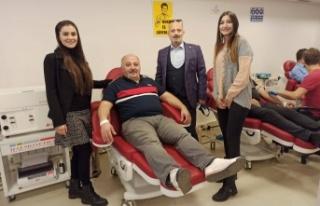 Türk Ocakları'ndan Kızılay'a kan bağışı