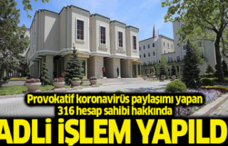 316 hesap sahibi hakkında yasal işlem yapıldı