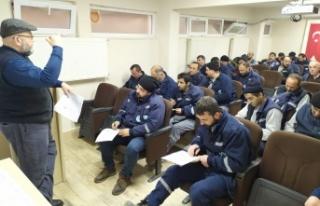 İzmit Belediyesinden personele iş sağlığı ve...