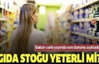 """Pakdemirli : """"Türkiye'nin Gıda Stokları Yeterli"""""""