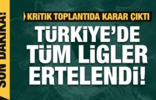 Türkiye'de ligler ertelendi!