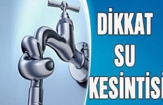 İzmit, Kandıra ve Kartepe'de su kesintisi