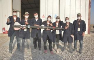 Büyükşehir'in desteklediği öğrenciler roket...