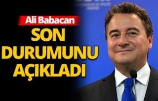 Virüse yakalanan Ali Babacan son durumunu anlattı