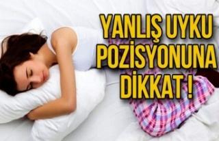 Yanlış Uyku Pozisyonuna Dikkat