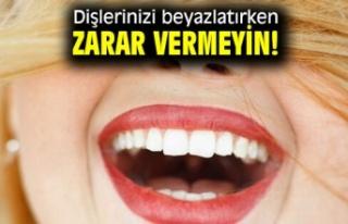 Diş Beyazlatırken Dikkat Edin !