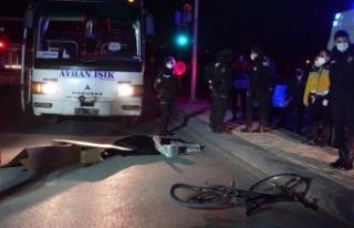 Bursa'da otobüsün çarptığı bisikletli öldü