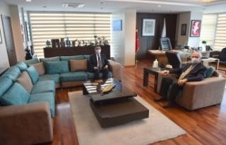 Çanakkale Valisi İlhami Aktaş'tan belediye ziyareti