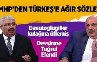 MHP'den, Tuğrul Türkeş'e ağır sözler!