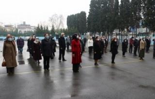 Sakarya'daki okullarda bayrak töreni yapıldı