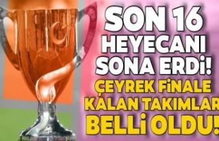 Ziraat Türkiye Kupası'nda çeyrek finale yükselen...