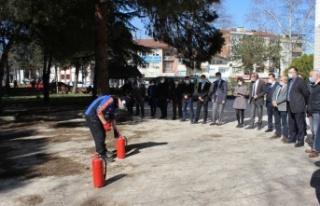 Osmaneli'de yangın söndürme tatbikatı yapıldı