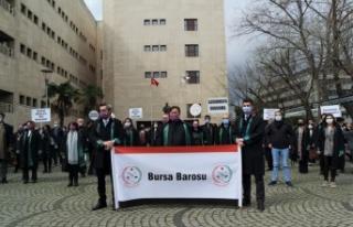 Bursa Barosundan avukat Ersin Arslan'ın öldürülmesine...