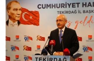 CHP Genel Başkanı Kılıçdaroğlu, siyasi partilerin,...