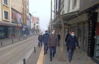 Edirne Valisi Canalp, Uzunköprü ilçesinde Kovid-19...